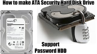 How to make lock unlock ATA Security Hard Disk Drive on desktop PC without BIOS support Password