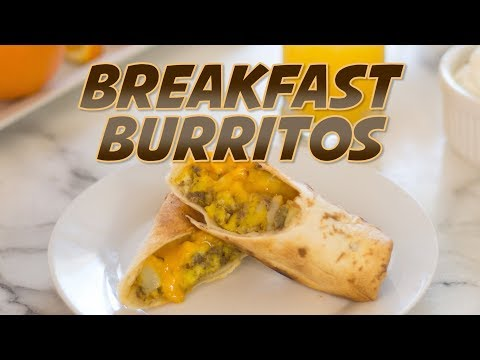 Make-Ahead Breakfast Burritos in the Ninja Foodi