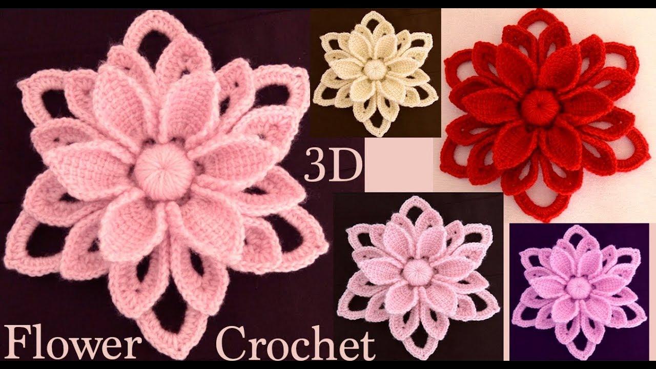 Como Hacer Flores 3d Tejidas A Crochet Irlandés Paso A Paso Tejido