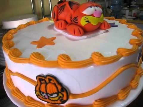 Pastel de Garfield 1  YouTube