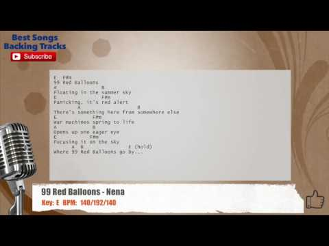 99 Red Balloons - Nena Vocal Backing Track with chords and lyrics