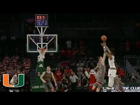 Miami's Lonnie Walker Hits Game-Winning 3 vs. BC