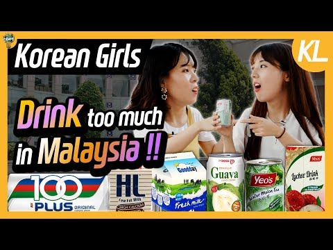 Korean girls tried drinks sold in Malaysian market!! ㅣ Blimey in KL Ep.06