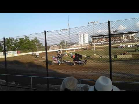 Fremont Speedway 410s Heat Race 7/1/17