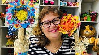 Linda Flor de Chita Dupla-Face