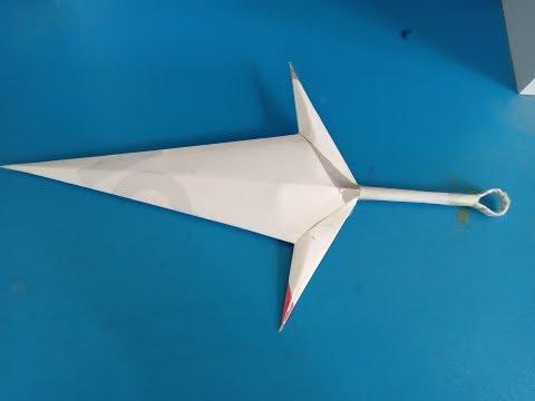 How To Make a Paper Kunai Kanife -Tutorial Origami Kunai Minato - Naruto
