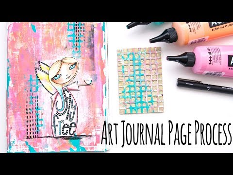 Art Journal Page Process – Simple Acrylic Paint Layers