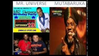 MR  UNIVERSE TALKING TO MUTABARUKA ON IRIEFM STEPPING RAZOR MAY 2013