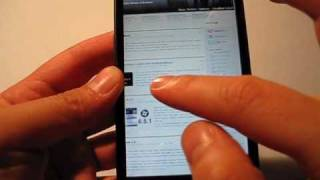HTC HD2 web browser video demo
