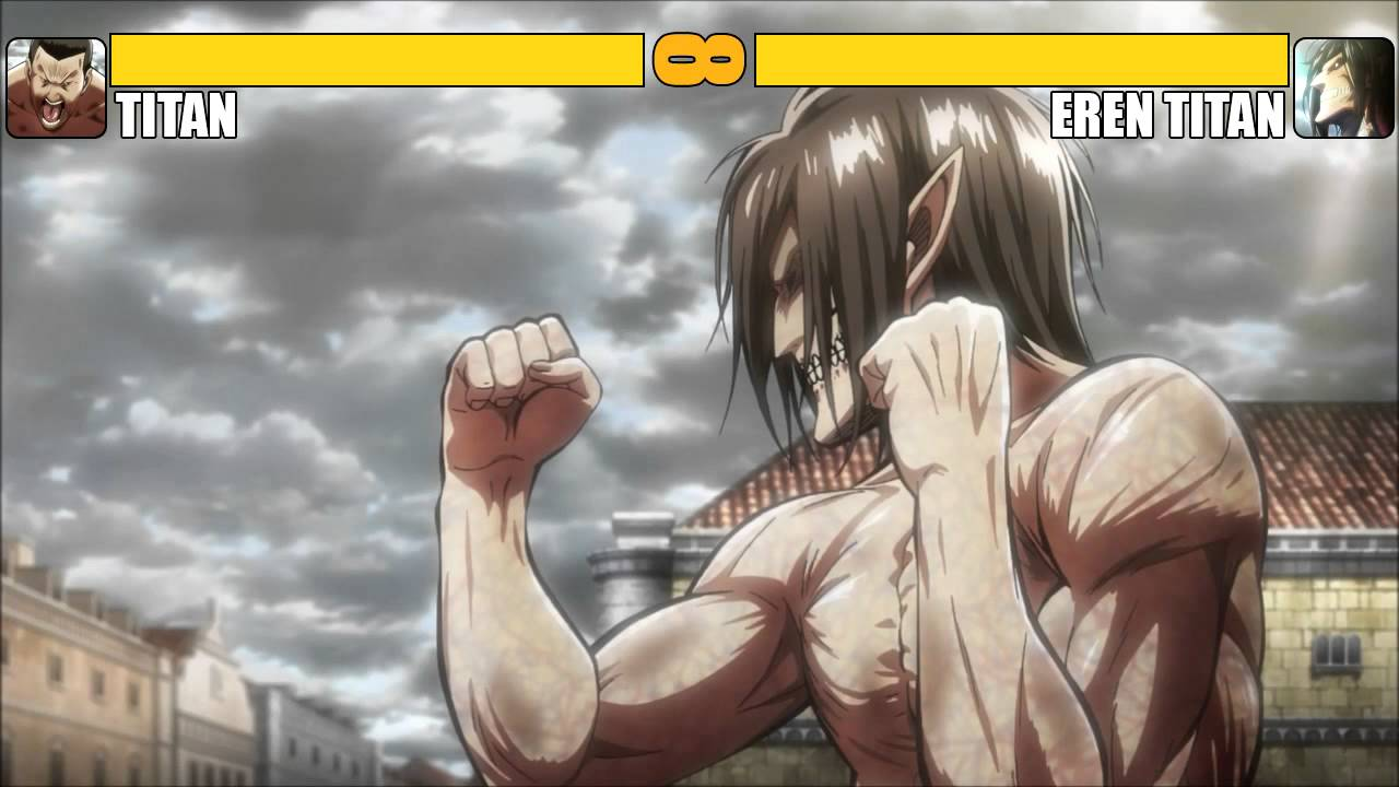 Titan vs Eren Titan [K.O] - YouTube
