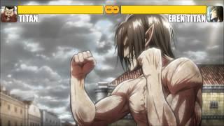 Repeat youtube video Titan vs Eren Titan [K.O]
