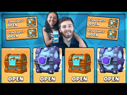 OPENING x4 CLAN CHESTS & SUPER MAGICALS! | Clash Royale | CLAN CHEST LEGENDARY OR NAH?!