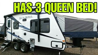 AMAZINGLY Small Travel Trailer RV with 3 QUEEN SIZE BEDS! Solaire 163X