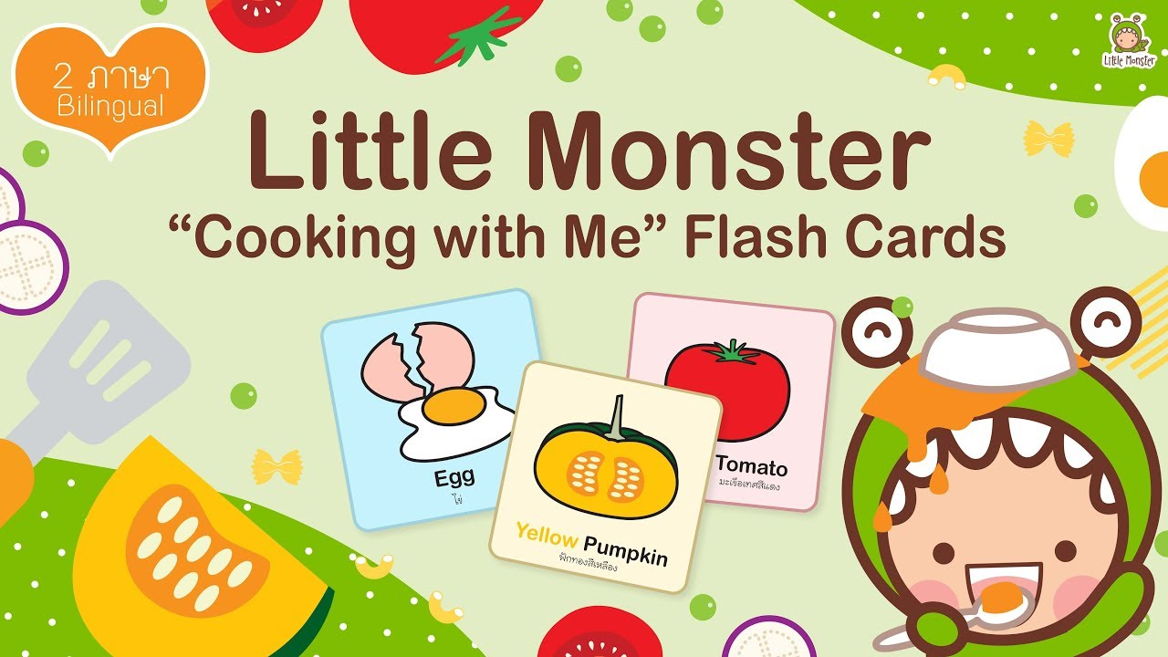 """LITTLE MONSTER """"Cooking with Me"""" Flash Cards   LITTLE MONSTER KIDS"""