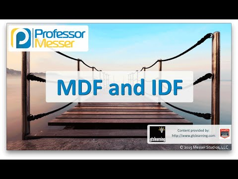 MDF and IDF - CompTIA Network+ N10-006 - 5.7 - Professor ... Idf Wiring Diagram on