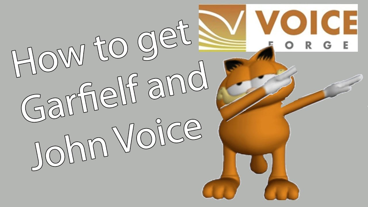 how to get garfielf and john voice fix of the website youtube