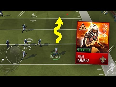 THE FASTEST PLAYER IN THE GAME! ALVIN KAMARA GAMEPLAY! MADDEN MOBILE 18!