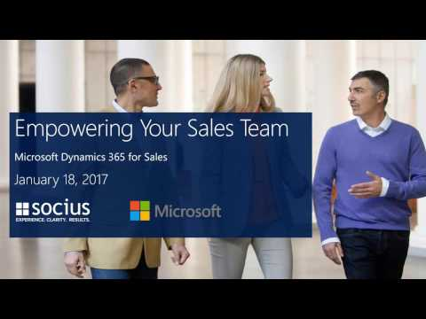 Dynamics 365 for Sales - Empower Sales Teams