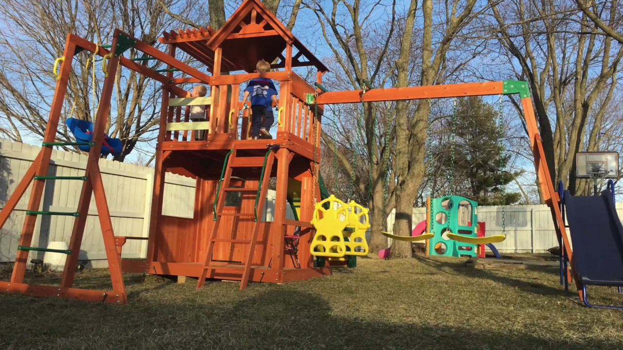 Backyard Adventure Thunder Ridge Playset Timelapse And Installation