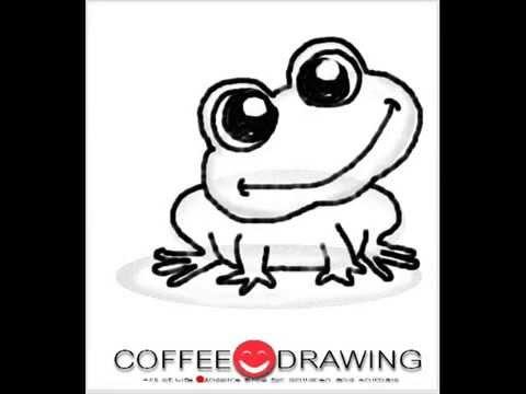 how to draw กบ [Kero,Frog, Toad] สอนเด็กวาดรูปการ์ตูน ตามขั้นตอนง่ายๆ [by coffee-drawing]