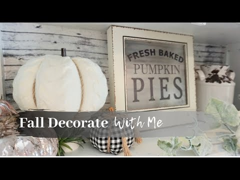FALL DECORATE WITH ME 2019 | FARMHOUSE KITCHEN | NEUTRAL FALL DECOR