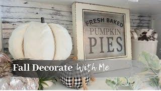 Fall Decorate With Me 2019 | Farmhouse Kitchen | Neutral Fall Decor