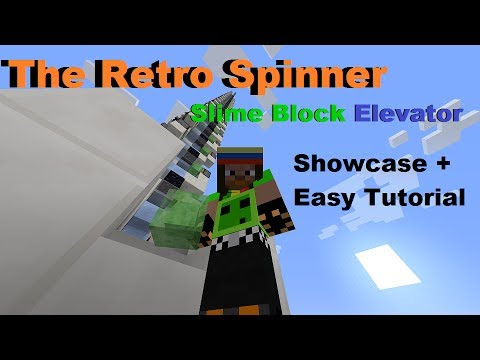 how to build a slime block elevator in minecraft