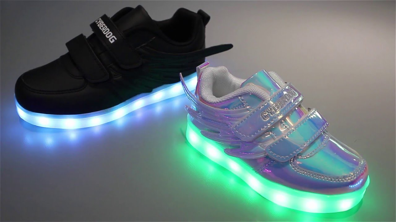 2c4a66ab5576 Cyberdog Kids Light Up RGB Shoes - YouTube