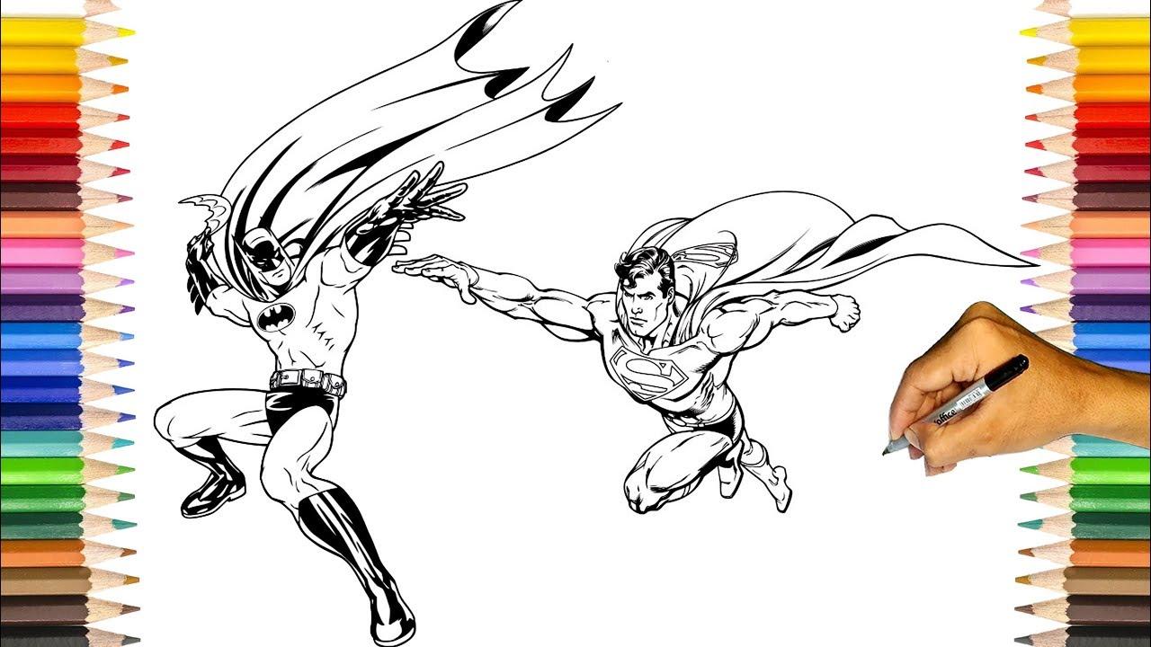 Batman V Superman Coloring Pages  Classic Batman Vs Superman