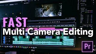 Multi Camera Editing iฑ Premiere CC 2020 - FAST