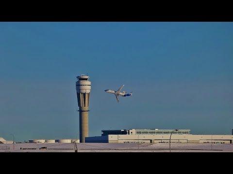 Nav Canada CRJ-200 Performing ILS Flight Inspections At YYC.
