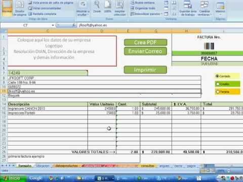 factura excel plantilla con base de datos incluida mas rapido mas