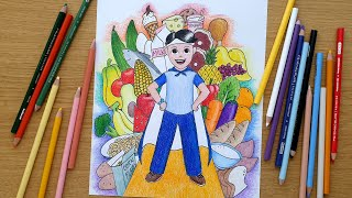 I used to draw this kind of drawing when was in elementary school and participated poster making contests. it too much fun drawi...