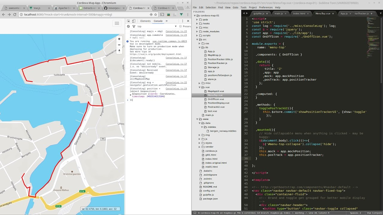 Cordova map app with Mapbox | awesome map tools