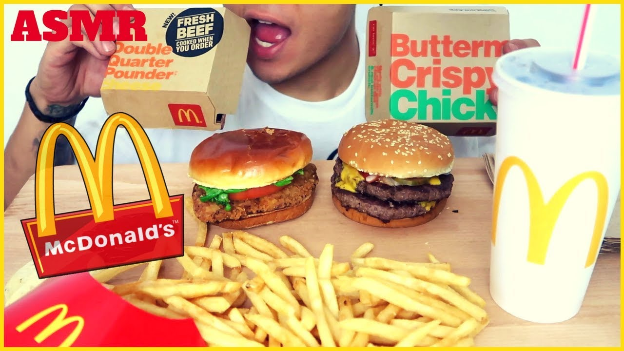 Asmr Mcdonalds Double Quarter Pounder Crispy Chicken Mukbang Intense Satisfying Eating Sounds