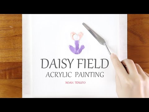 🔹Daisy Field🔹 Easy & Simple Acrylic Painting #81 / Abstract / Satisfying / Relaxing / 아크릴 / 그림그리기