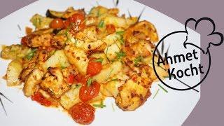 Rezept: Hähnchenbrust mit Kartoffeln im Backofen | AhmetKocht | kochen | Folge 178