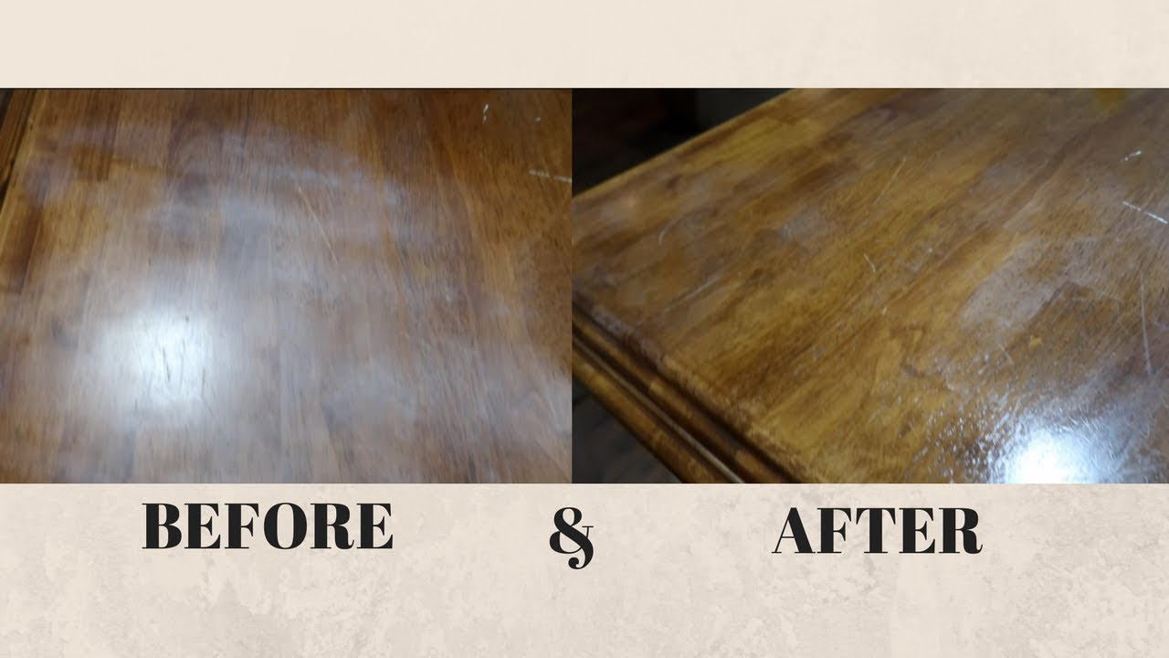 How To Remove White Heat Stain From A Wood Table