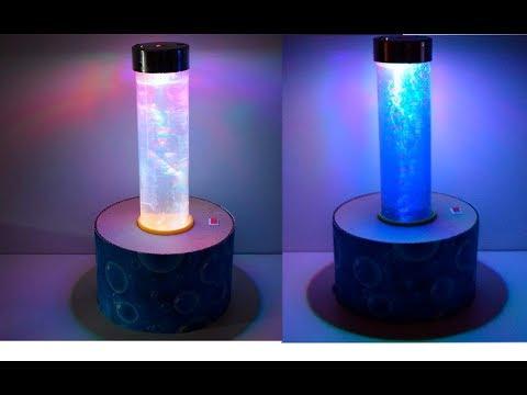 Как сделать лампу-ночник с пузырьками своими руками