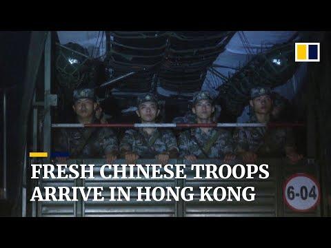 Fresh Chinese troops arrive in Hong Kong