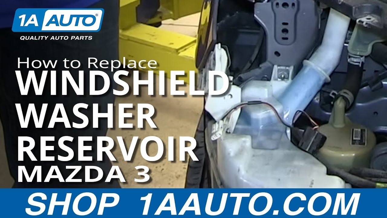 How To Install Replace Leaking Windshield Washer Reservoir 200409 Mazda 3  YouTube