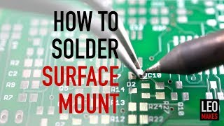 How to Solder Surface Mount parts (it's easy!)
