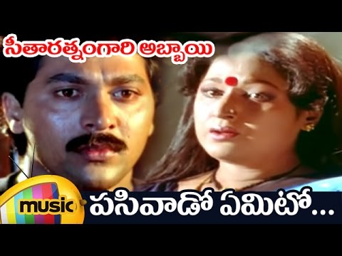 Seetharatnam Gari Abbayi Movie | Pasivado Yemito Telugu Video Song | Roja | Vinod Kumar | Vani Shri