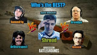 Shroud vs Streamers Who is the best pubgpubg mobile player