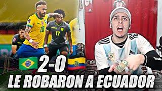 REACCION de un Argentino   Brasil 2 Ecuador 0   Eliminatorias Qatar 2022