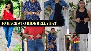 HIDE BELLY FAT WITH THESE 10 EASY HACKS  | RAKHI SINGH