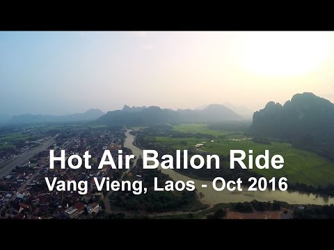 Hot Air Balloon Sunset Trip - Vang Vieng, Laos / GoPro
