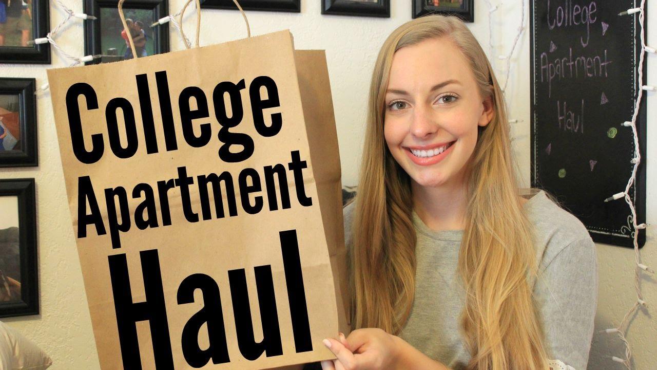 College Apartment Haul - YouTube