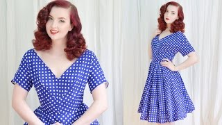 Download Making a 1950's Dress / Blue Dotted Dress Mp3 and Videos
