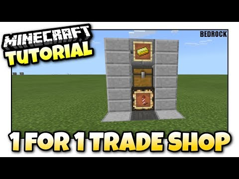 Minecraft - 1 for 1 TRADE SHOP(Store) Redstone Tutorial - Bedrock MCPE / Xbox One / Windows 10